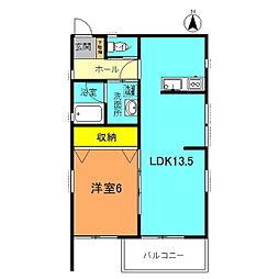 LOHAS銀河D[D-2 号室]の間取り