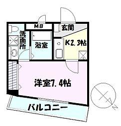千葉県習志野市津田沼5の賃貸アパートの間取り
