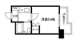 ハイシティ横浜元町[504号室]の間取り