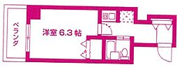 神奈川県川崎市高津区梶ケ谷3丁目の賃貸マンションの間取り