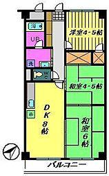 エクセルハイム海宝[3階]の間取り