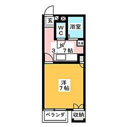 セイラBOX東貝沢B[1階]の間取り