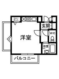 シャルマンフジ鳳[1階]の間取り