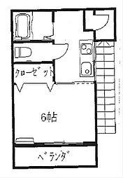 ファミーユ三春B[202号室]の間取り