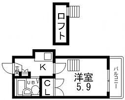 衣摺NAKAKI[104号室号室]の間取り