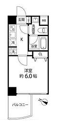 神奈川県横浜市南区白金町1丁目の賃貸マンションの間取り