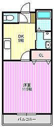 フェリーチェ古川橋[3階]の間取り