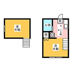 ユタカハイツ[2階]の間取り