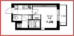 東京都荒川区南千住1丁目の賃貸マンションの間取り