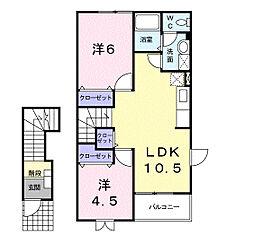 たんぽぽ2[2階]の間取り