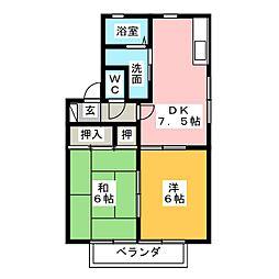 ファミール尾崎[1階]の間取り