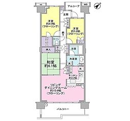 グランドメゾン東戸塚2番館[5階]の間取り