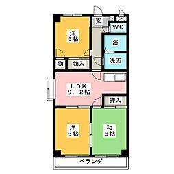 クレアールK2[2階]の間取り