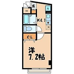 Rozen5番館[3階]の間取り
