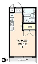 上北沢アサカマンション[102号室]の間取り