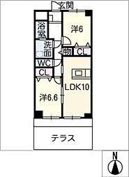ノーブル21[2階]の間取り