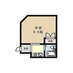 シャルムオーキッド[3階]の間取り