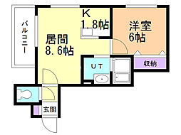 nid・nord 4階1LDKの間取り