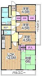 都民住宅グランゲート西新井[207号室]の間取り