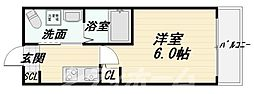大阪府大阪市阿倍野区北畠1丁目の賃貸マンションの間取り