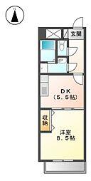 ブランメゾン八龍[1階]の間取り