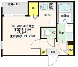 仮称)ハ−モニ−テラス大阪市西淀川区歌島一丁目8A[102号室]の間取り