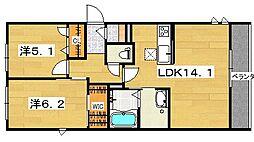 RESIDENCE KURAJI[2階]の間取り