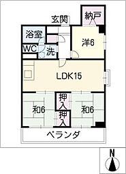 メゾン白菊[4階]の間取り