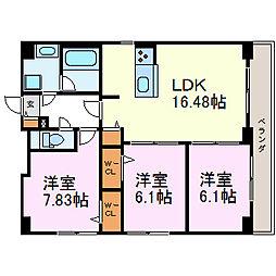 S-FORT鶴舞cube[10階]の間取り