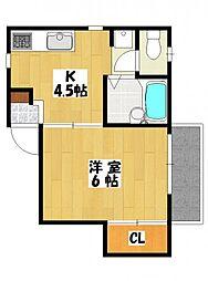 千葉県市川市東大和田1の賃貸アパートの間取り