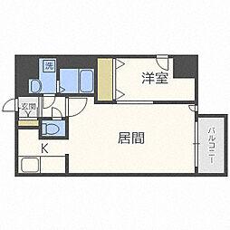 北海道札幌市西区琴似一条7丁目の賃貸マンションの間取り