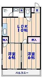 吉原マンション[302号室]の間取り