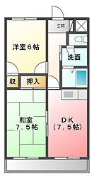 ロイヤルハイツ[4階]の間取り