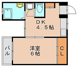 喜鶴マンション[2階]の間取り