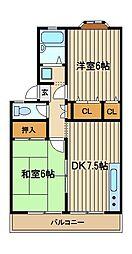 ドリームハイツ2[2階]の間取り