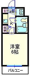 ステラコート横浜白楽[503号室]の間取り