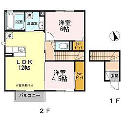 ポーレハウス[2階]の間取り