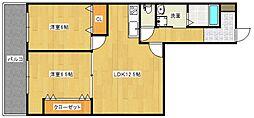 パステル12[8階]の間取り