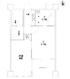 東京都豊島区南池袋2丁目の賃貸マンションの間取り