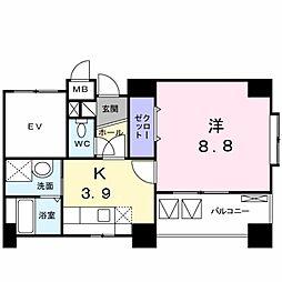 ラフィナート[3階]の間取り