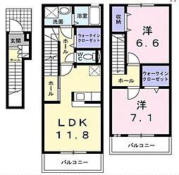 ドリームKII[3階]の間取り