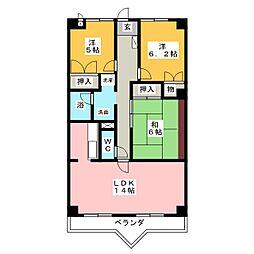 ステータスビル[4階]の間取り