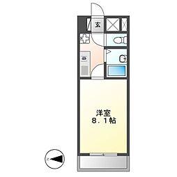 第7フクマルビル[6階]の間取り