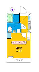 神奈川県横浜市南区南太田4丁目の賃貸アパートの間取り