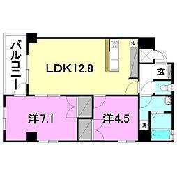TRENTE LUMIERE[305 号室号室]の間取り