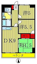 ニュー松戸コーポE棟[5階]の間取り