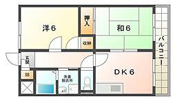 コーポARAMAN[2階]の間取り