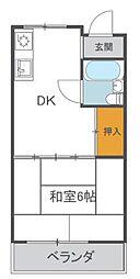 大阪府和泉市幸3丁目の賃貸マンションの間取り