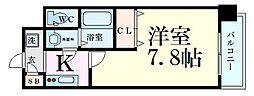 JR東海道・山陽本線 新大阪駅 徒歩5分の賃貸マンション 2階1Kの間取り