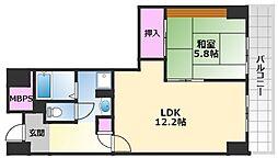 ベルマージュ堺弐番館 16階1LDKの間取り